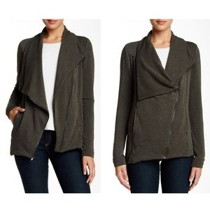 H By Bordeaux Asymmetrical Fleece Jacket S